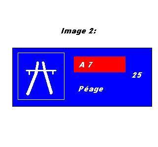 Si je veux me rendre sur l'A7 l'entrée de l'autoroute sera:
