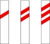 Sur ces balises annonçant un passage à niveau chaque trait rouge correspond à une distance de: