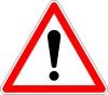Ce panneau de danger est situé à: