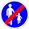 Ce panneau interdit l'accès aux piétons.