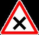 Ce panneau est implanté à une distance de l'intersection de: