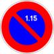 Ce panneau interdit du 1 au 15 du mois: